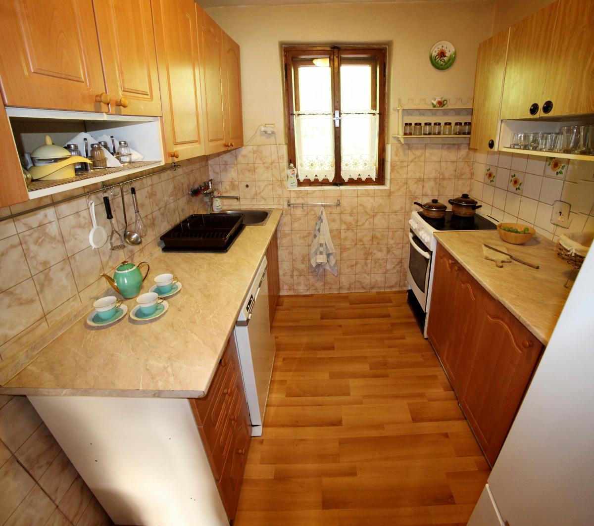 Chata - kuchyňa
